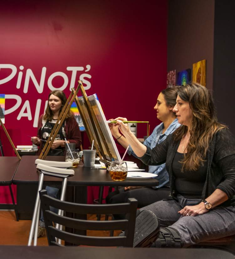 Paint Class at Pinot's Palette