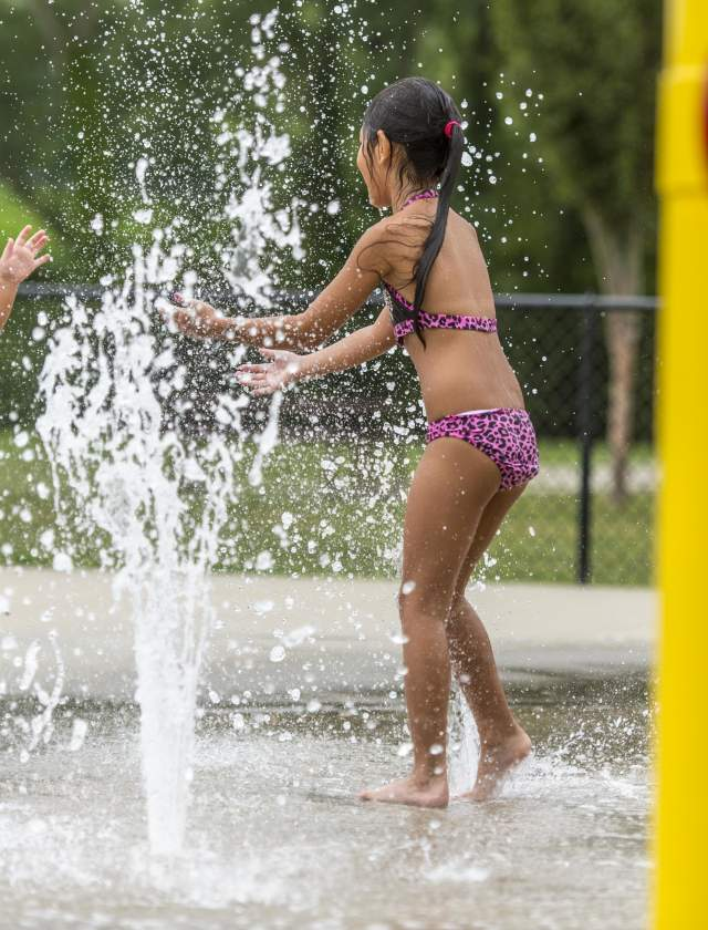 Children at Splash Pad
