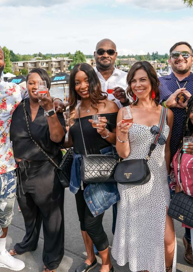 Group of friends at Kirkland Uncorked
