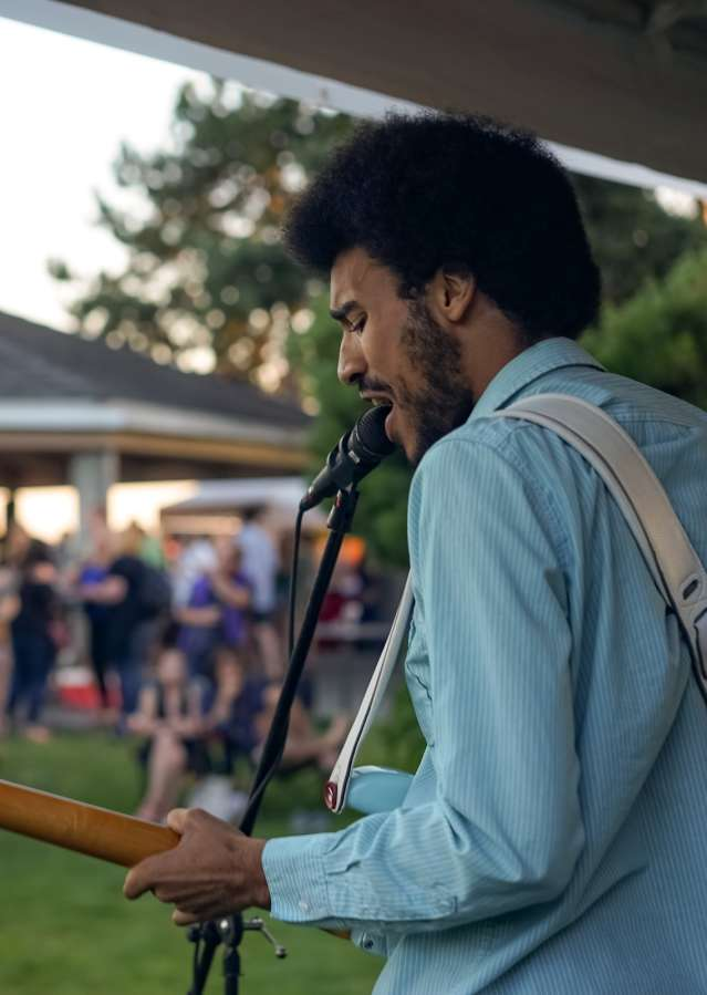 African American musician concert in Marina Park