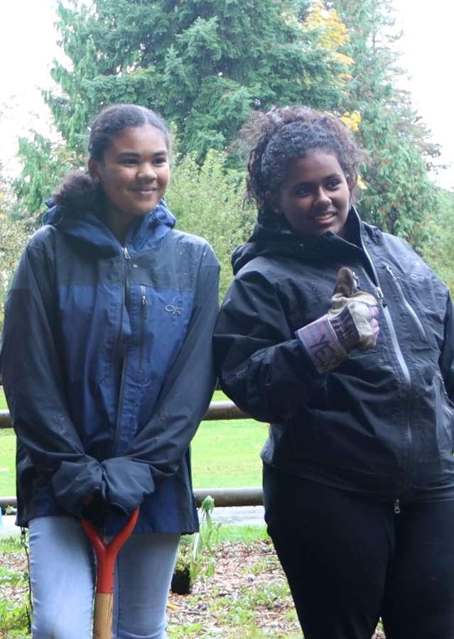 Students working on Kirkland Trails