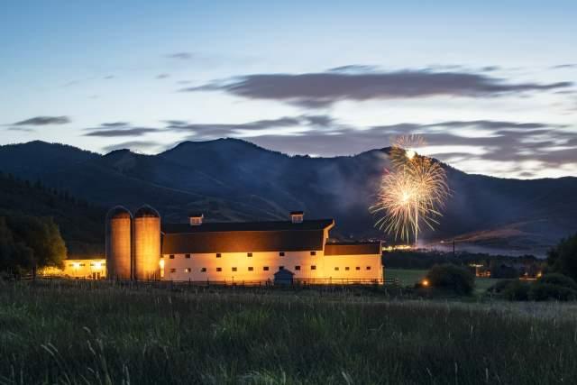 Fireworks over McPolin Farm
