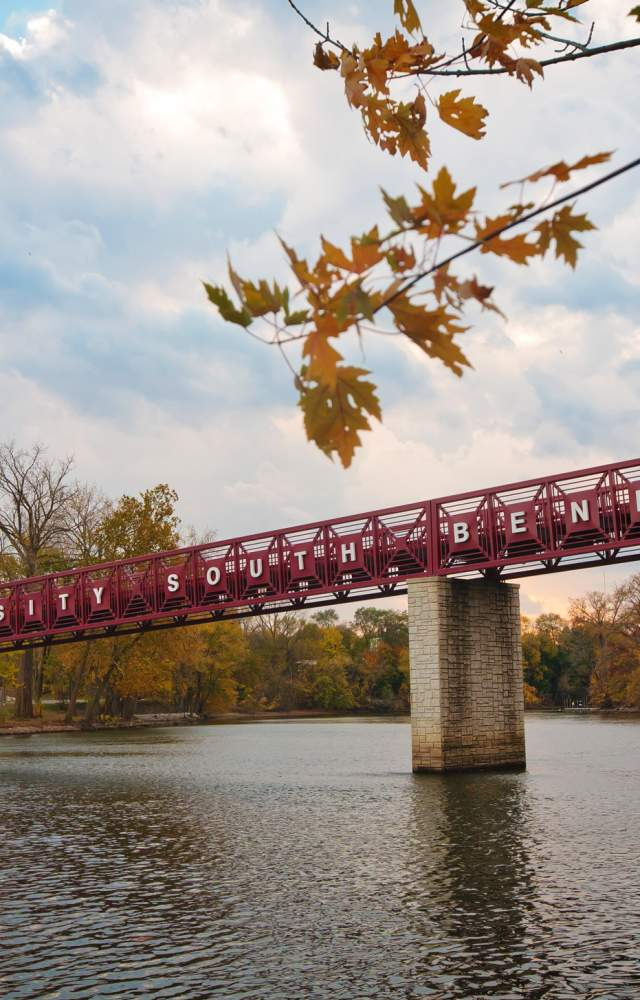 The bridge at Indiana University South Bend