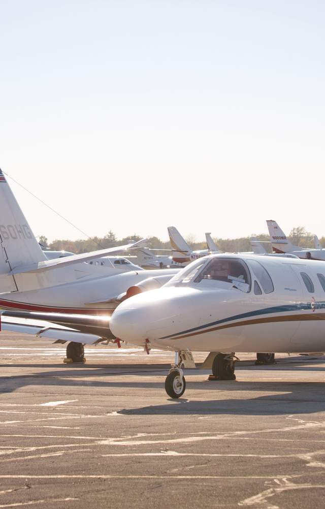 Jets and plans at South Bend International Airport