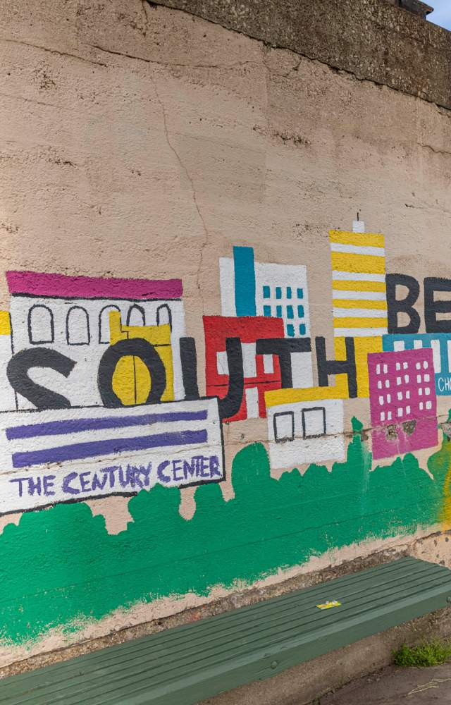 South Bend is Our Town Mural at Howard Park