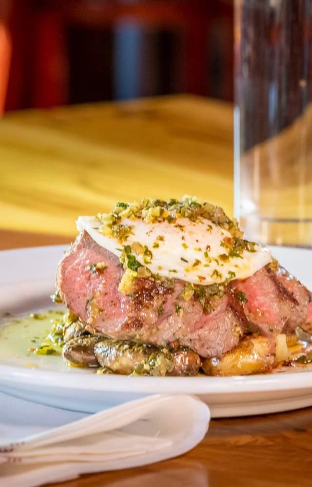 A dish steak dish from LaSalle Kitchen and Tavern