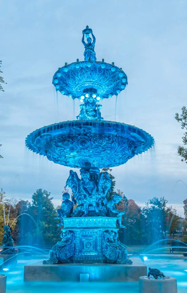 The Studebaker Fountain in downtown South Bend
