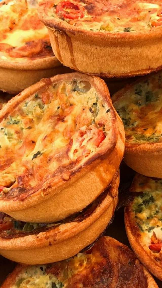 Quiches at a market