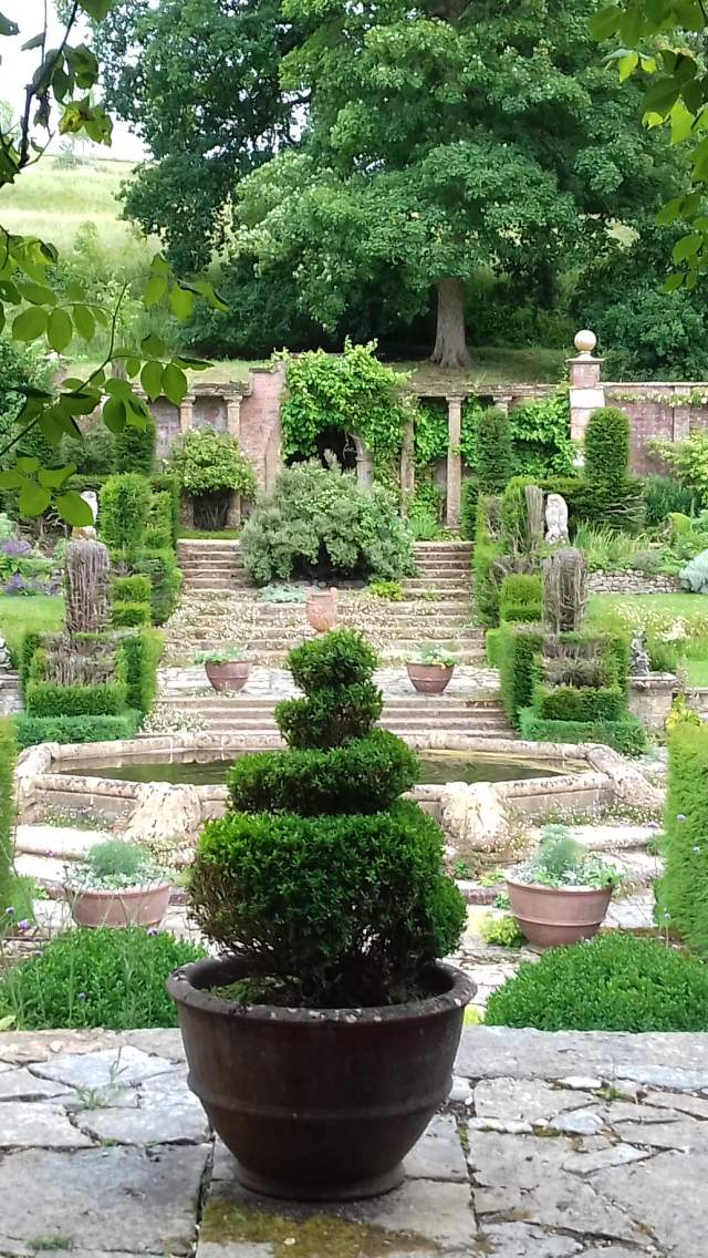 Topiary at in the garden of Mapperton House