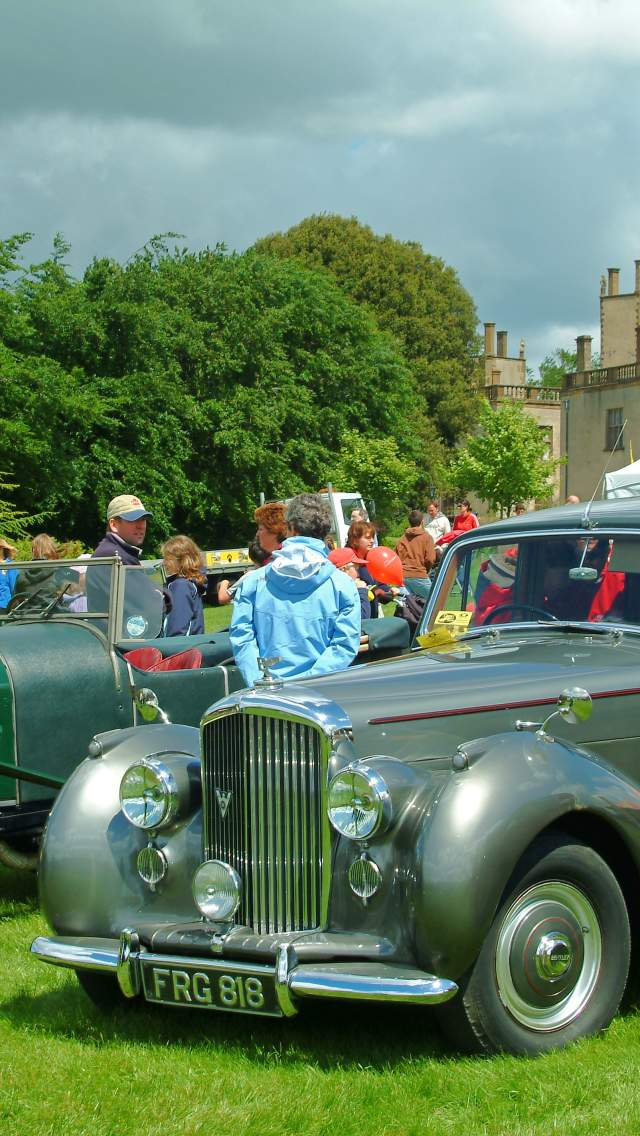 Classic Cars Parked at Sherborne Castle Country Fair