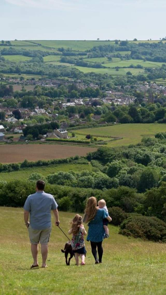 Beautiful countryside surrounding the village of Beaminster