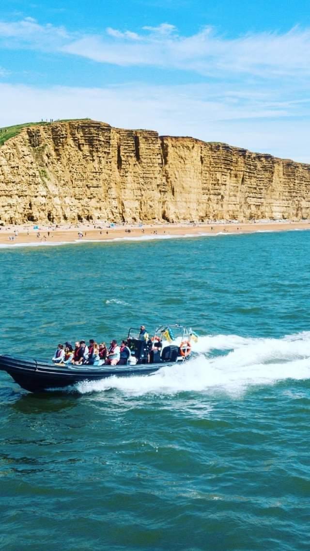 RIB boat trips long the Jurassic Coast