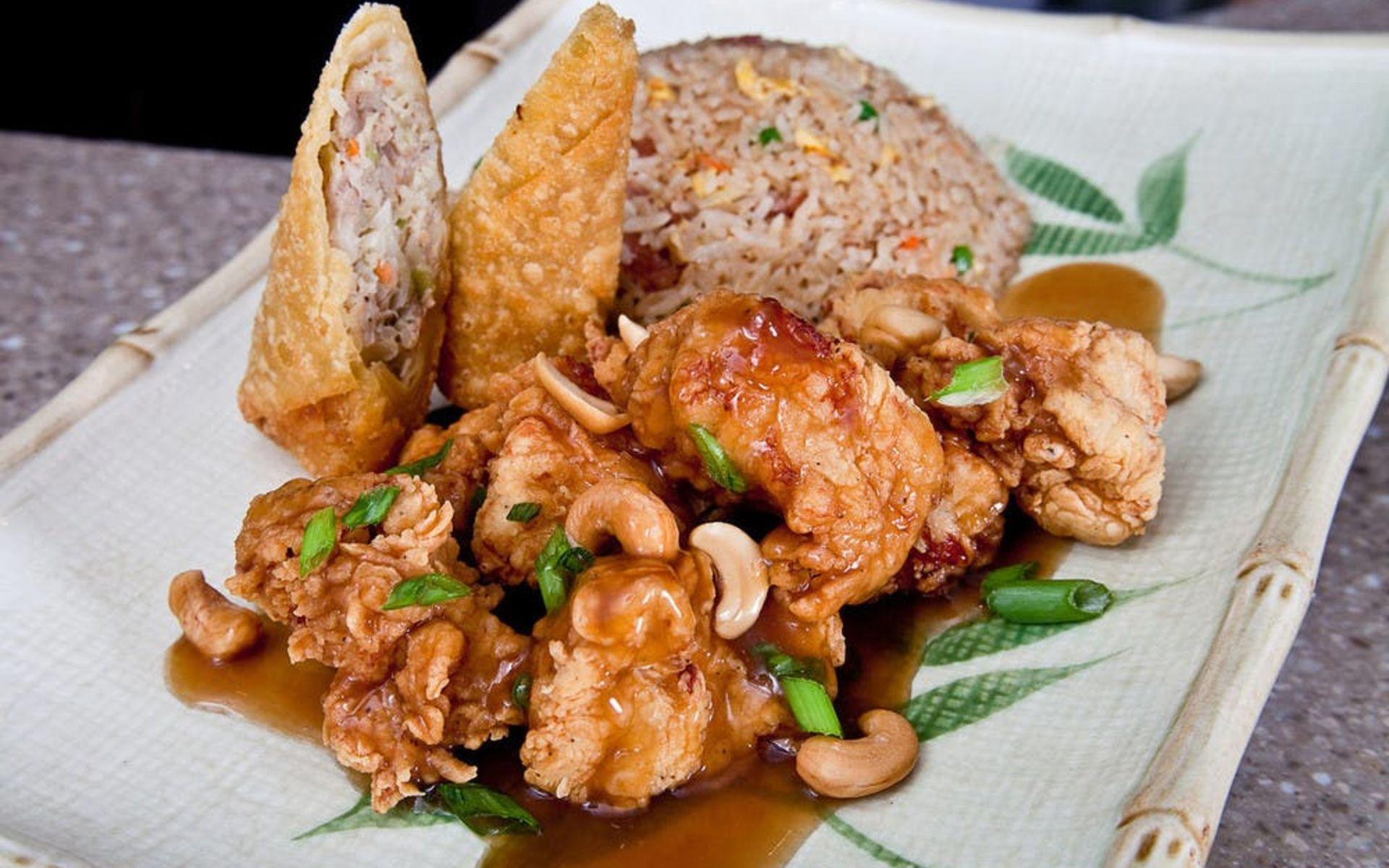 Leong's Cashew Chicken Plate