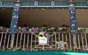 Mardi Gras Balcony Trapani's Bay Saint Louis