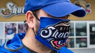 Biloxi Shuckers Face Mask header image