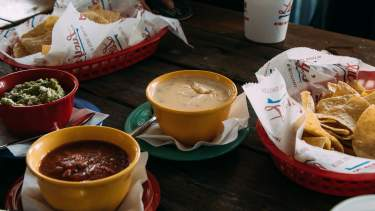 Nachos and Dipping Sauces
