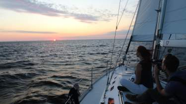 North Star Sailing Sunset