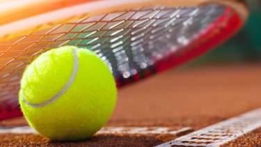 Tennis Ball and Raquet