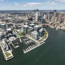Seaport Square Aerial with skyline
