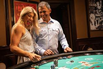 Couple at Table Game