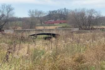 A bridge on the Welsh Hills Trail at Taliesin