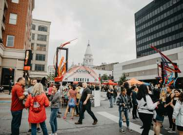 People walking at the Taste 2019