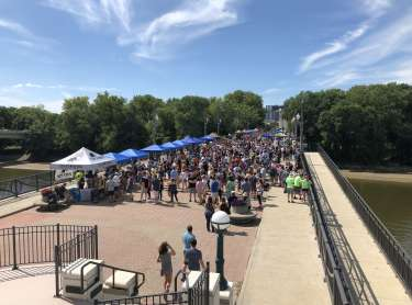 Beers across the wabash bridge view 2019