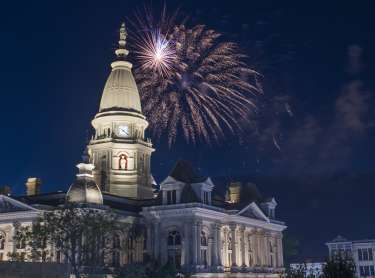 July 4 Fireworks over the Courthouse