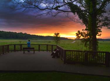 Prophetstown observation sunrise