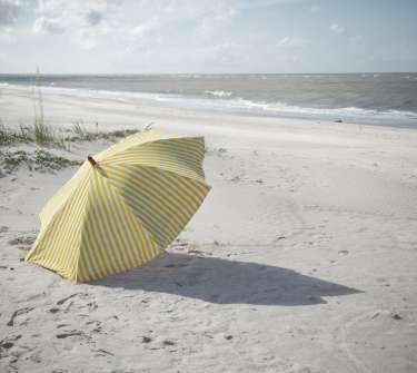 Beach Umbrella on Indian Pass