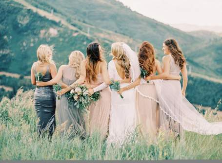 CB - Group of bridal party outside
