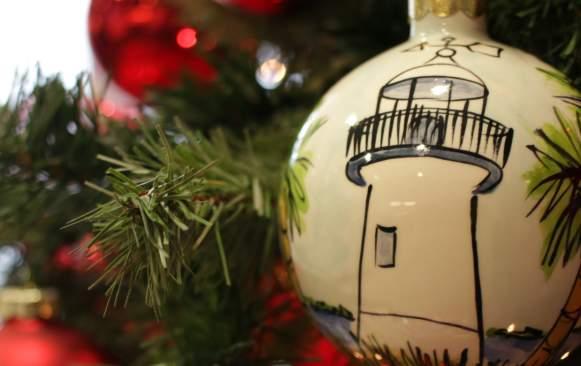 Biloxi Lighthouse Christmas Ornament blog header image