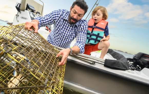 Father & Son Crabbing