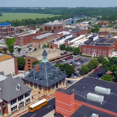 Clarksville Downtown Aerial