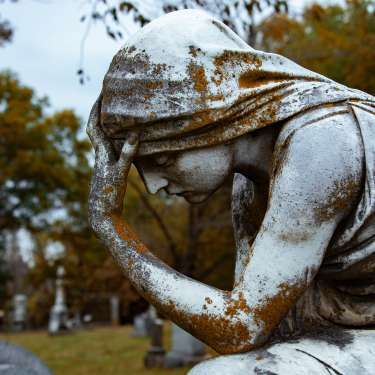 statue at historic cemetery
