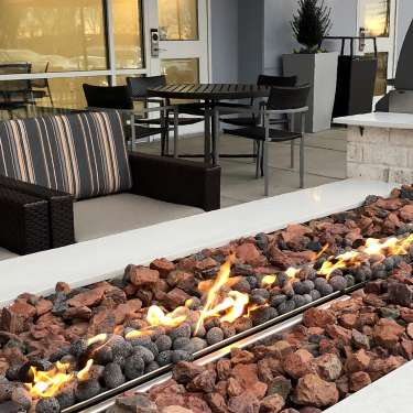 outdoor patio at a hotel