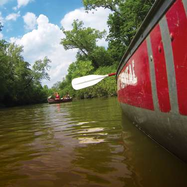 Two Canoes on the Little Miami River