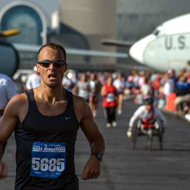 Finish Area at the Air Force Marathon