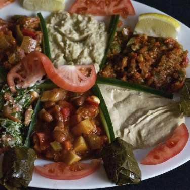 Large Combo Plate at Pasha Grill