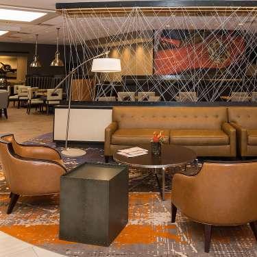 Lobby at the Holiday Inn Fairborn in Fairborn, Ohio