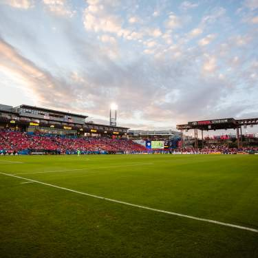 Crowd at Toyota Stadium during soccer match