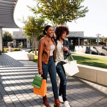 Two women shopping at The Star