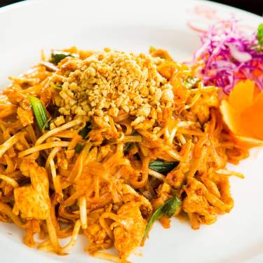 Plate of Thai food from Best Thai