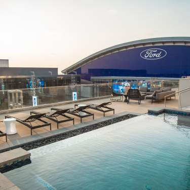 Picture of Omni Frisco Hotel's The Edge Pool Deck overlooking The Star