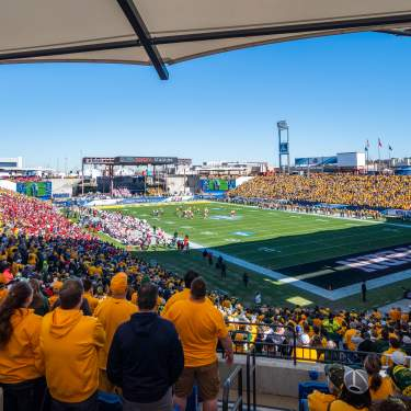 Full crowd at the NCAA Division I FCS game in Frisco at Toyota Stadium