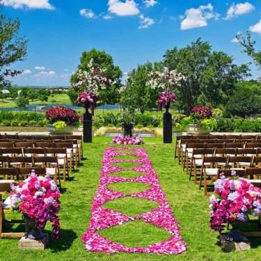 Outdoor wedding set up at The Westin Stonebriar Golf Resort & Spa