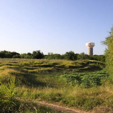 Trail with Frisco water tower in back