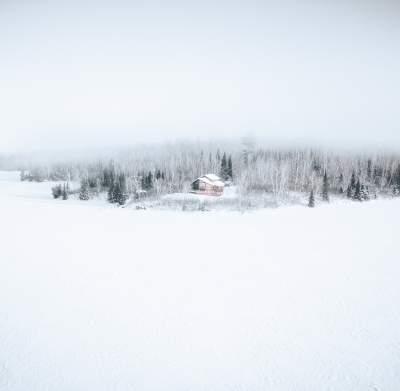 Remote Winter Cabin