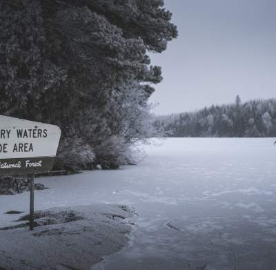 Winter BWCAW Sign