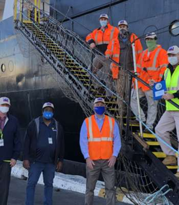 National Shipping of America Makes their first call at Port Everglades